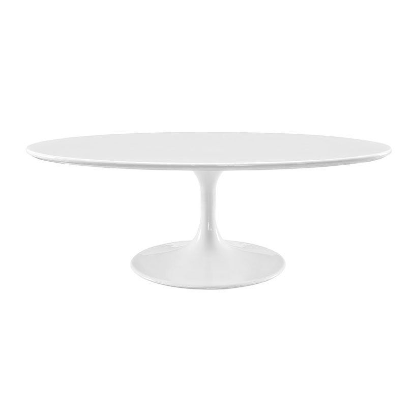 Sandlake Saarinen Oval Tulip Coffee Table White Eero - White tulip table 48